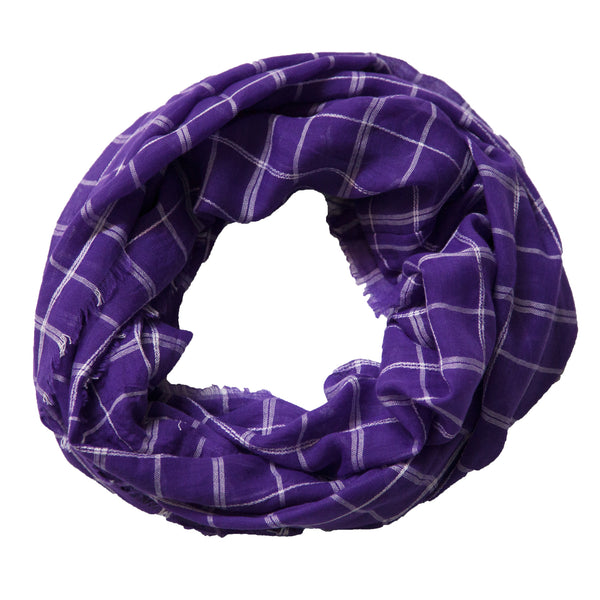 Lightweight Plaid Infinity - Purple