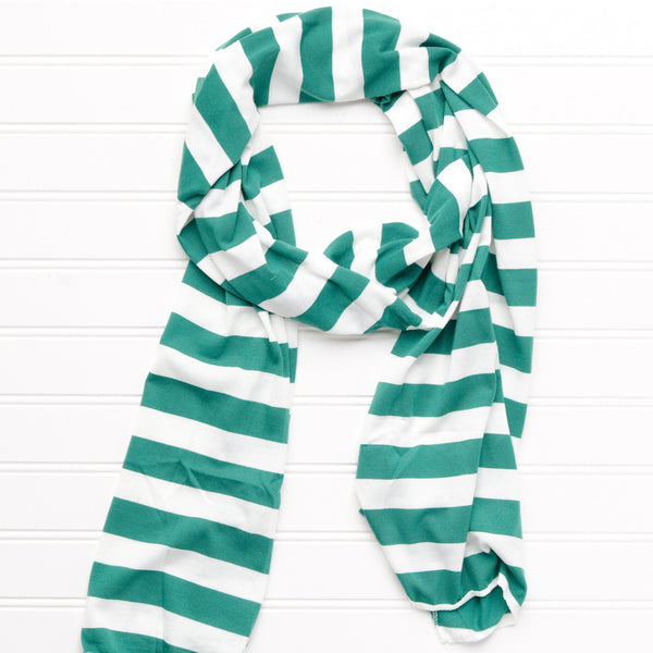 Jersey Striped Scarf - Green