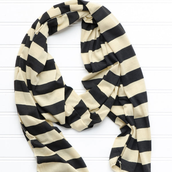 Jersey Striped Scarf - Old Gold