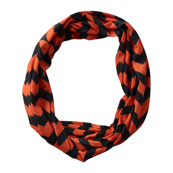 Chevron Jersey Infinity - Orange Black