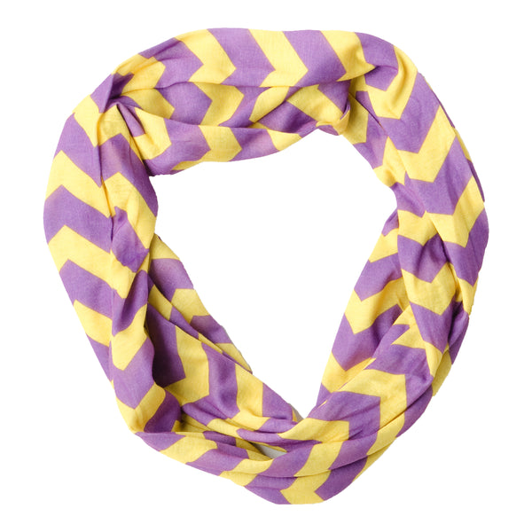 Chevron Jersey Infinity - Purple Gold