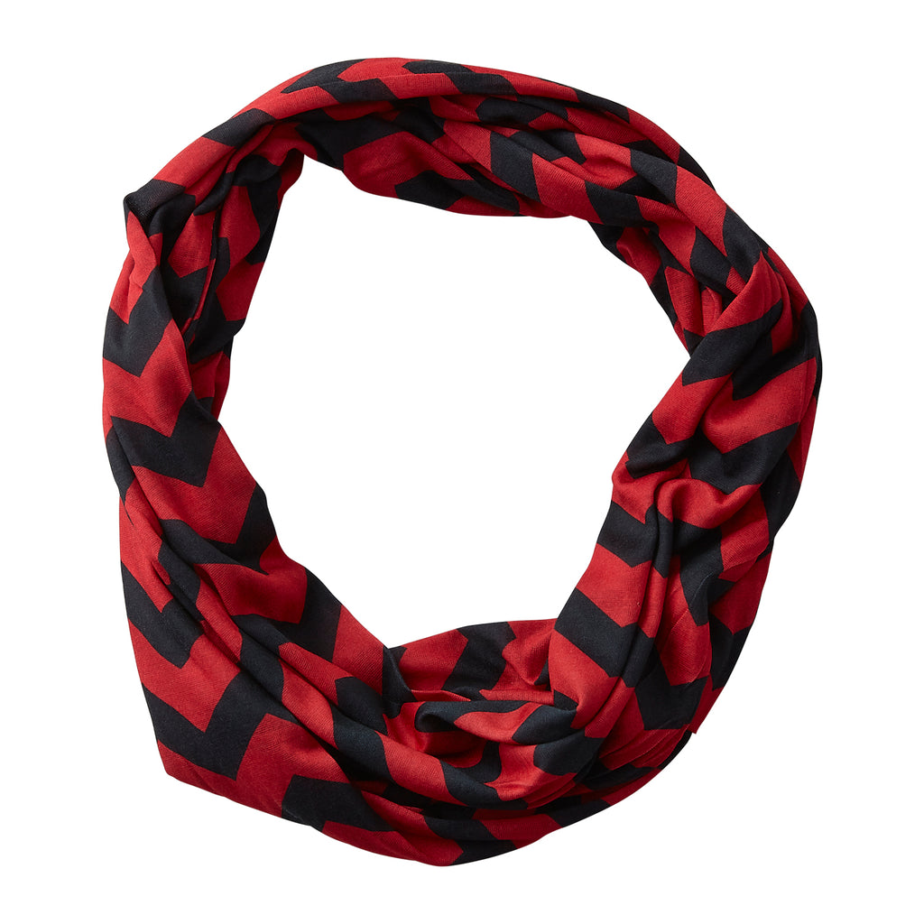 Chevron Jersey Infinity - Red Black