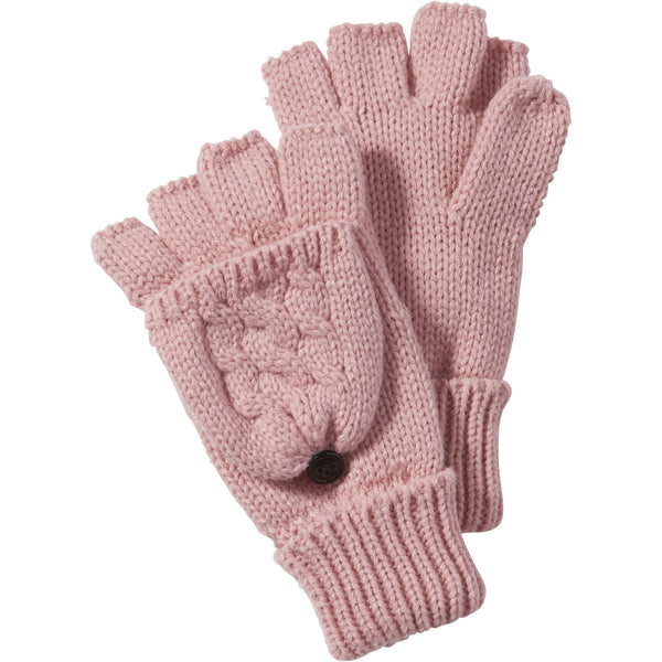 Ballet Pink Dove Cableknit Mittens