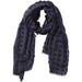 Navy Knotted Squares Scarf