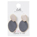Gray Slipper Earrings