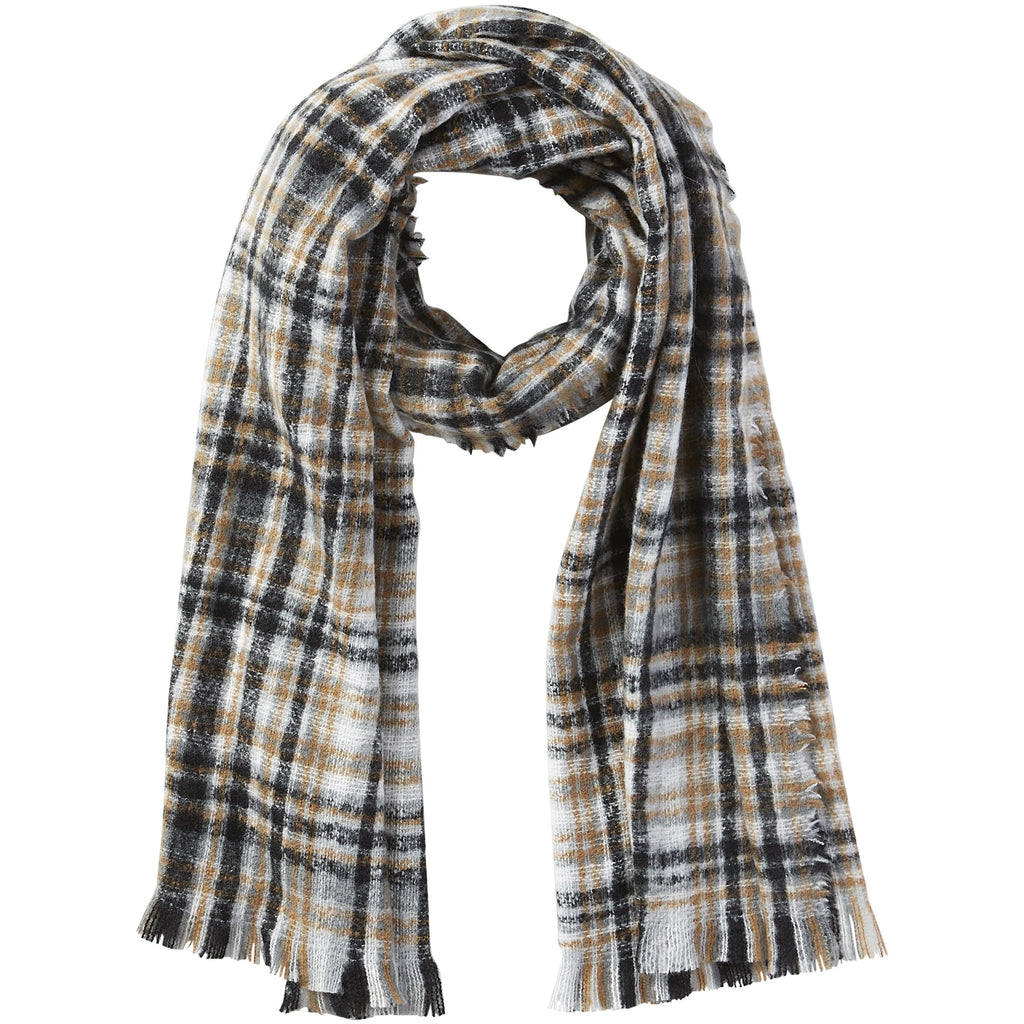 Dean Plaid Scarf - Neutral