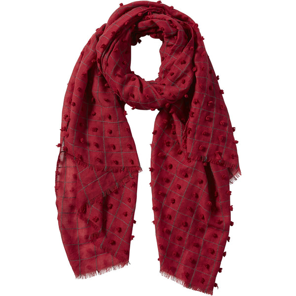 Garnet Knotted Squares Scarf