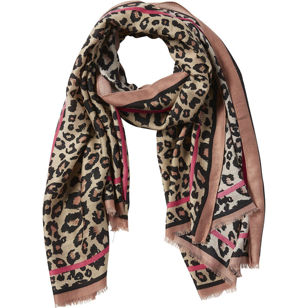 Pink Deb Leopard Scarf