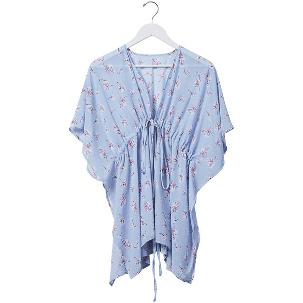 Babydoll Tie Tunic - Bluebell Floral
