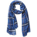 Preppy Lightweight Plaid Scarf - Navy