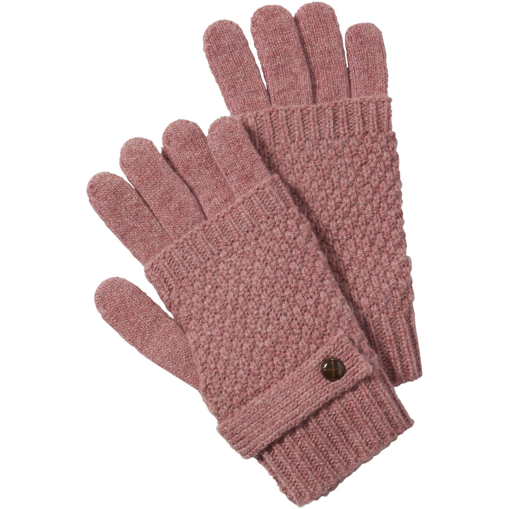 Pink Duo Knit Texting Gloves