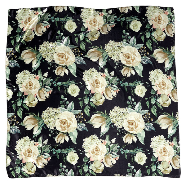 "Winter Floral Lola Square Scarf Gift Set - 34"" x 34"""