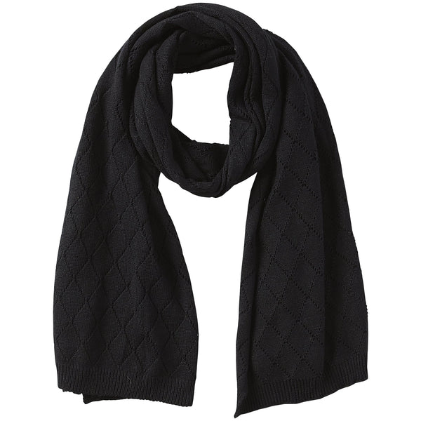Catherine Diamond Knit Scarf - Black