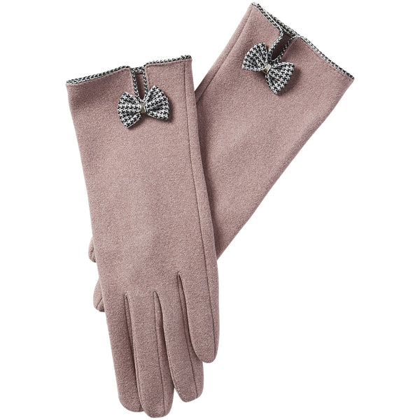 Isla Bow Gloves - Pink