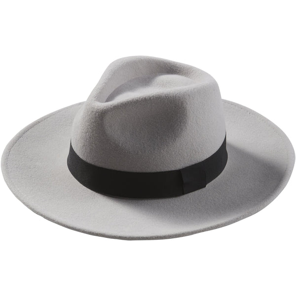 Gray Hilary Wool Panama Hat