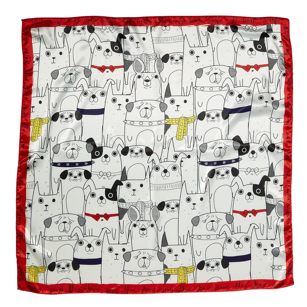 "Woof Pack Lola Square  Scarf Gift Set - 34"" x 34"""