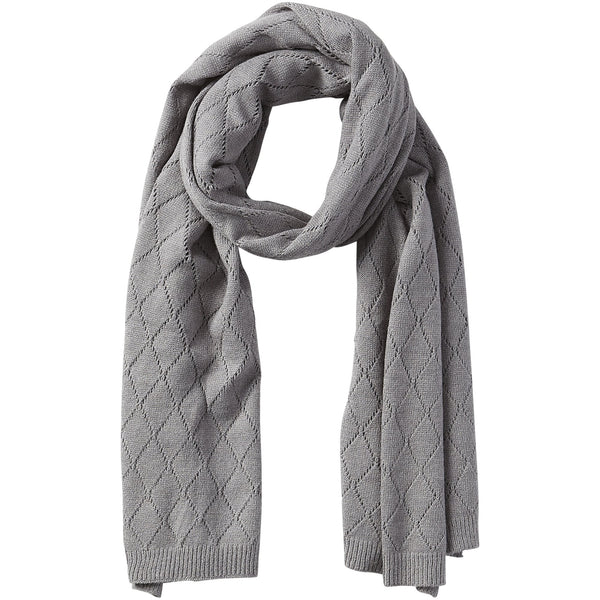 Catherine Diamond Knit Scarf - Gray