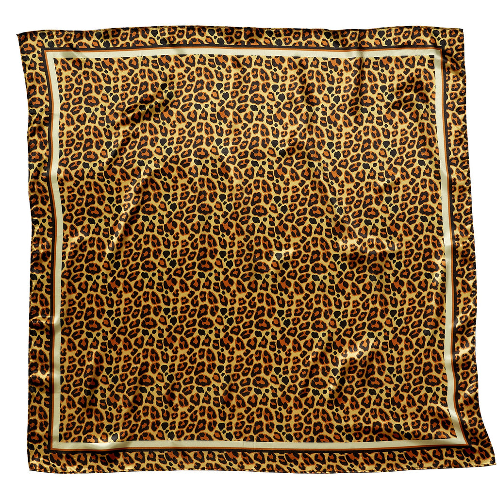 "Leopard Lola Square Scarf Gift Set - 34"" x 34"""