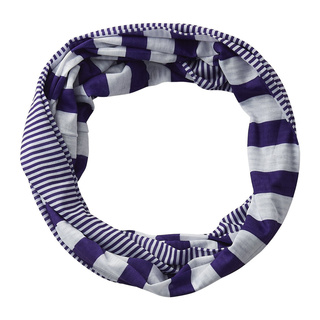 Gameday Stripes Infinity - Purple/White