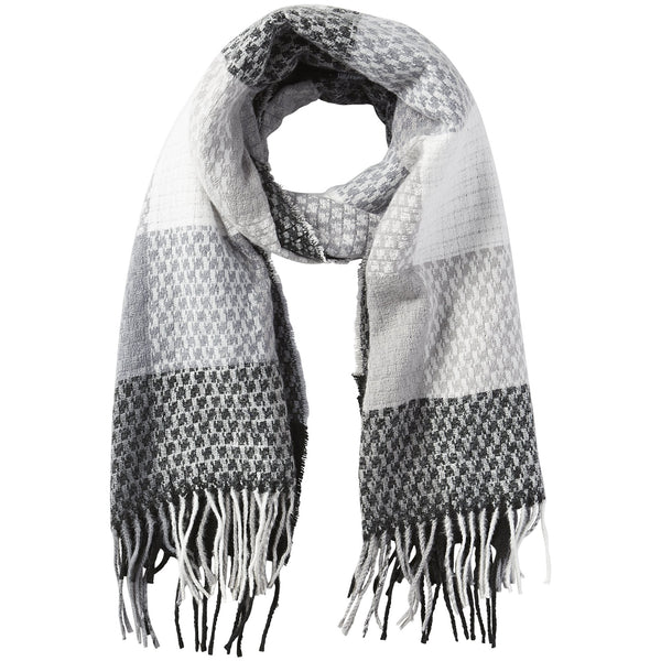 Oakley Plaid Fringe Scarf - Black