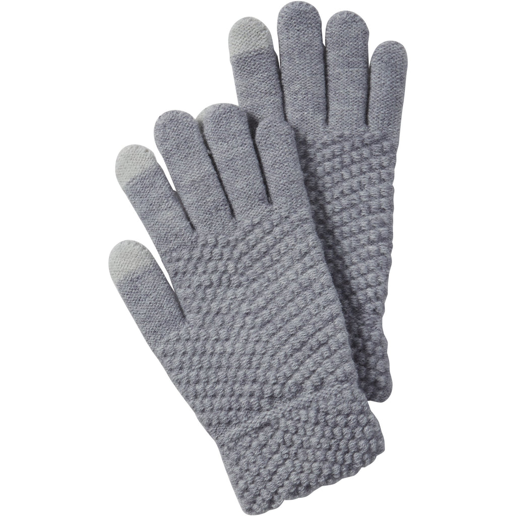 Gray Anna Texting Knit Gloves