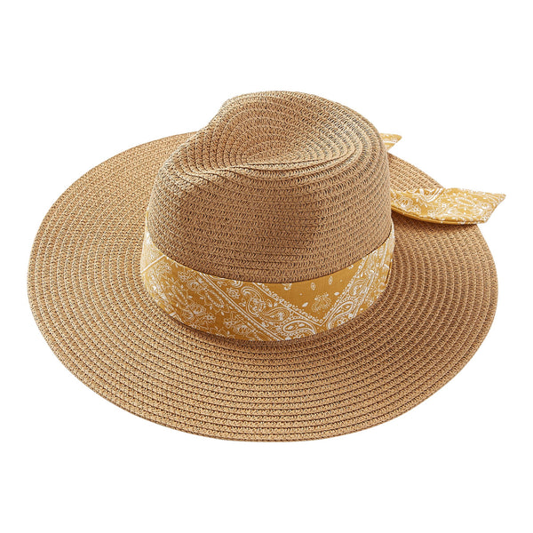 Yellow Bandana Panama Hat
