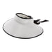 White Bow Tie Roll Up Visor