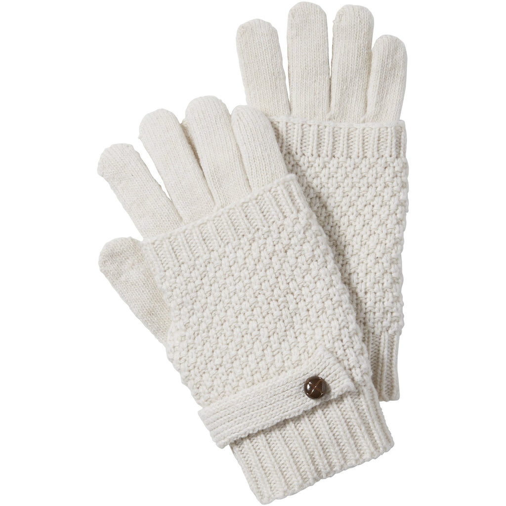 Ecru Duo Knit Texting Gloves