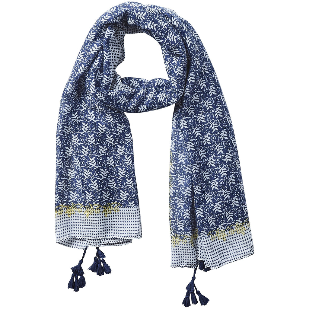 Simple Blue Dots Scarf