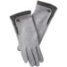 Herringbone Wool Gloves - Gray