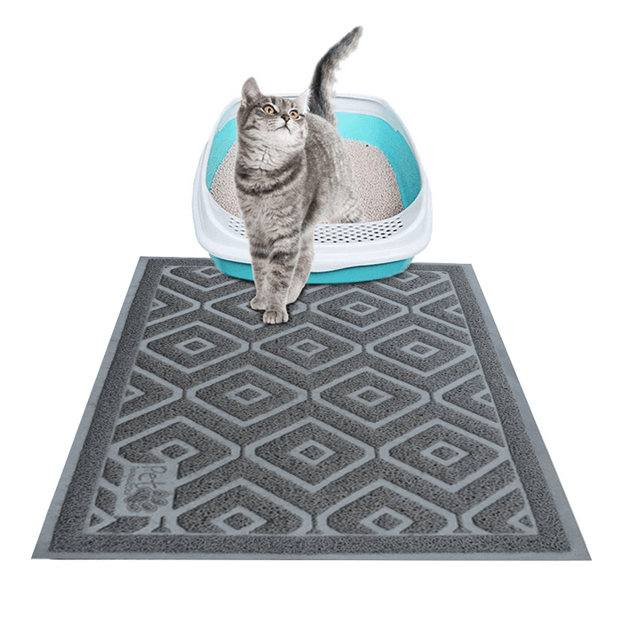 Cat Litter Trapping Mat- Captures and Traps Litter Like No Other Mat, BPA Free, Extra Large, Waterproof, Lifetime Warranty.