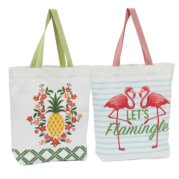 Tropical Glam Printed Totes Set/2