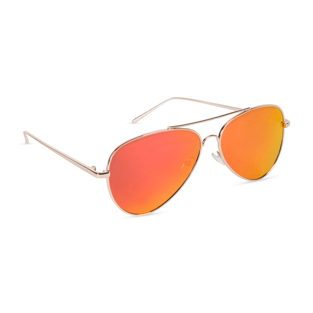 Aviator Sunglasses Sunset (Red)