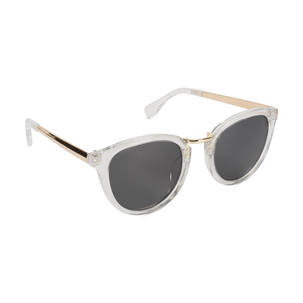 Retro Sunglasses Shiny Crystal/Smoke