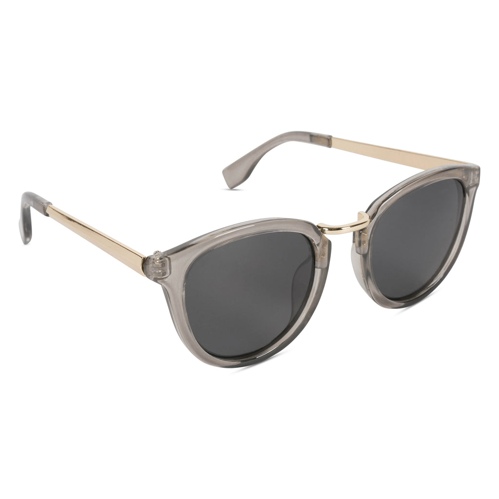 Retro Sunglasses Shiny Crystal Grey/Smoke