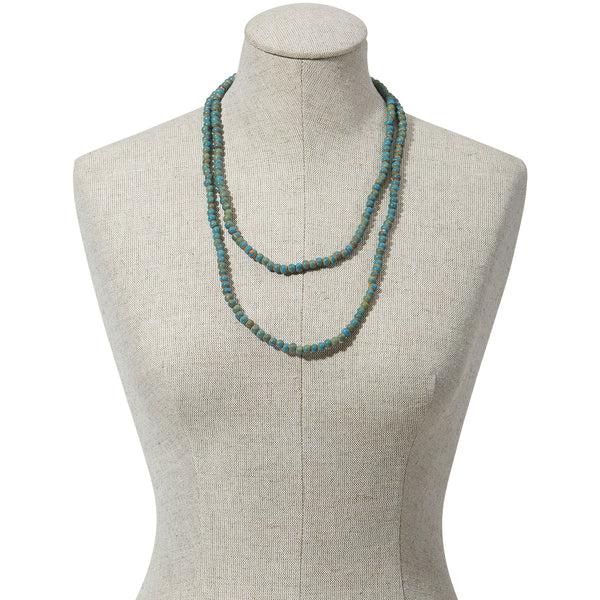 wholesale Clay Mini Round Necklace - Turquoise