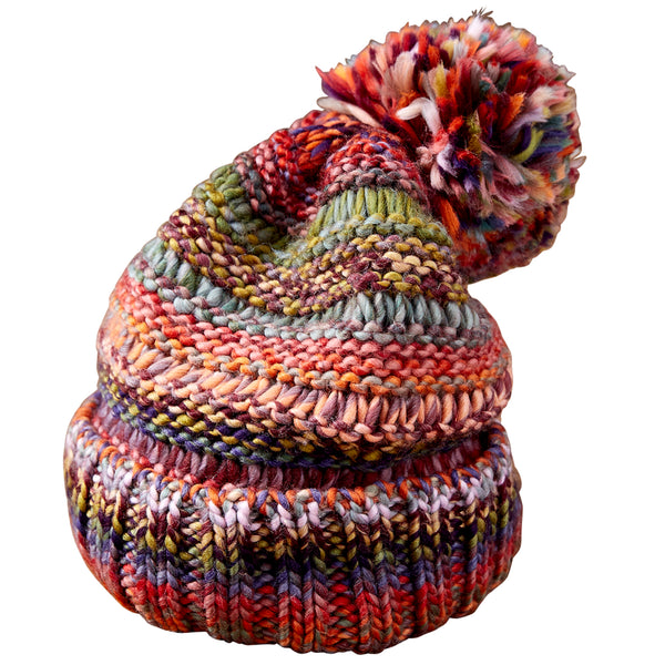 Wholesale Scarves - Ombre Knit Hat - Multicolor - Tickled Pink