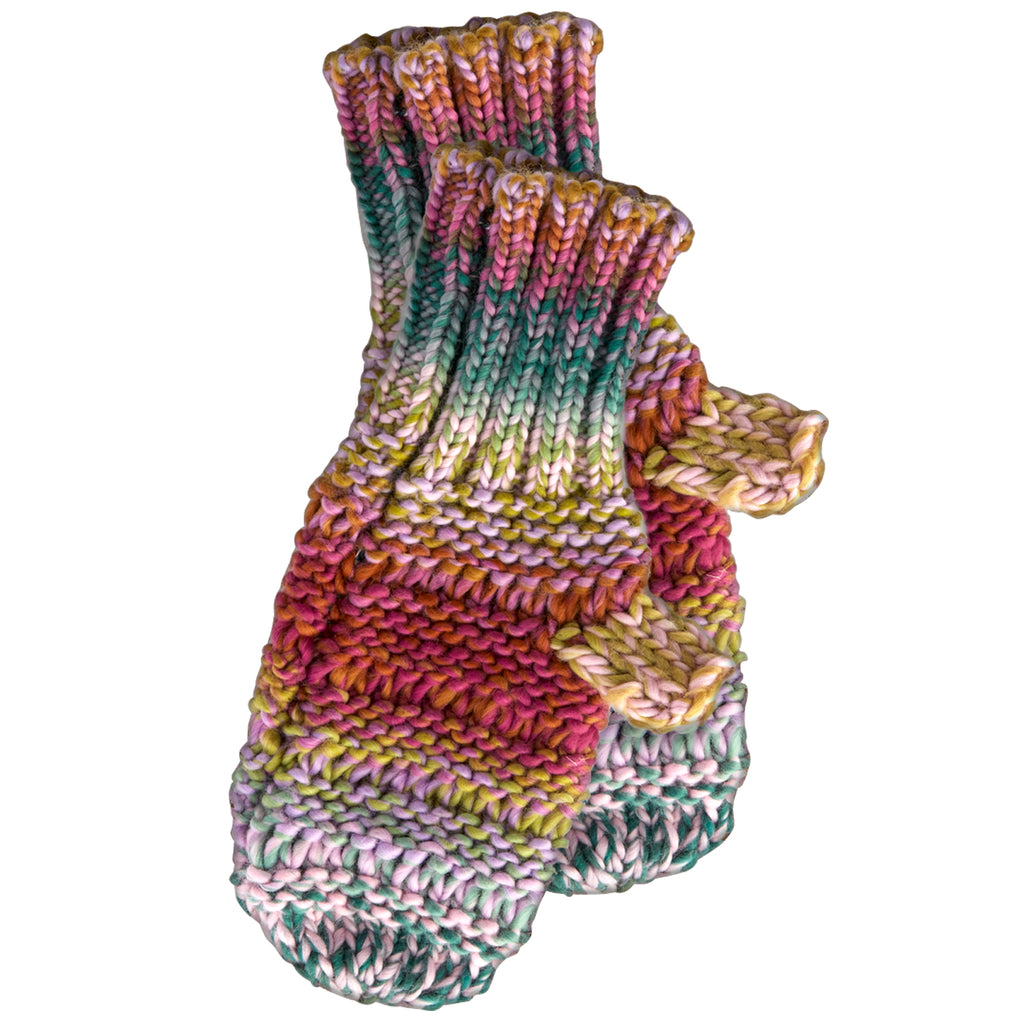 Ombre Knit Mittens - Lavender - Tickled Pink Wholesale
