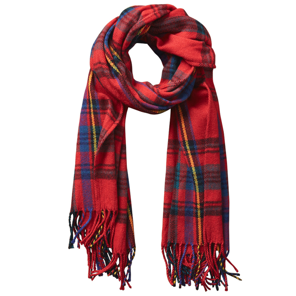 Classic Plaid Scarf - Classic Red - Tickled Pink Wholesale
