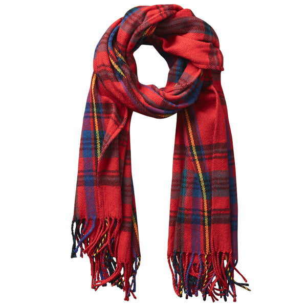 Wholesale Scarves - Classic Plaid Scarf - Classic Red - Tickled Pink