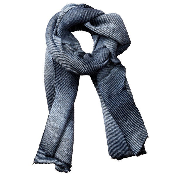 Ombre Ridged Scarf - Black & Gray - Tickled Pink Wholesale