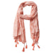 Pari Diamond Fringe Scarf - Coral - Tickled Pink Wholesale