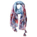 Wholesale Scarves - Floral Escape Tassel Scarf - Teal - Tickled Pink
