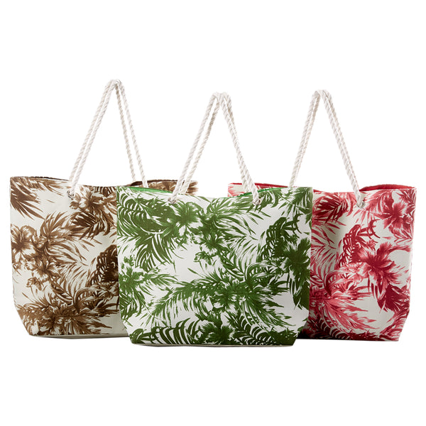 Palm Print Bag - Mixed 3 Pack - Tickled Pink Wholesale