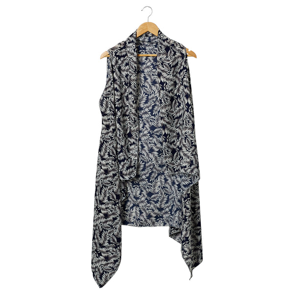 Wholesale Scarves - Navy & White Jungle Donna Moda Vest - Tickled Pink