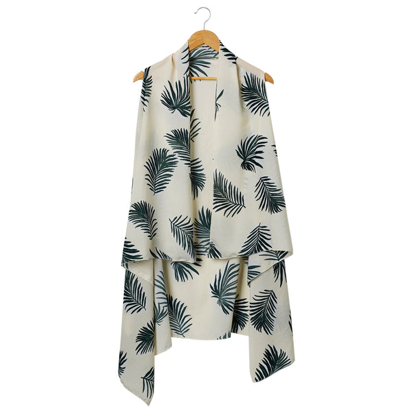 Wholesale Scarves - Green & White Jungle Donna Moda Vest - Tickled Pink