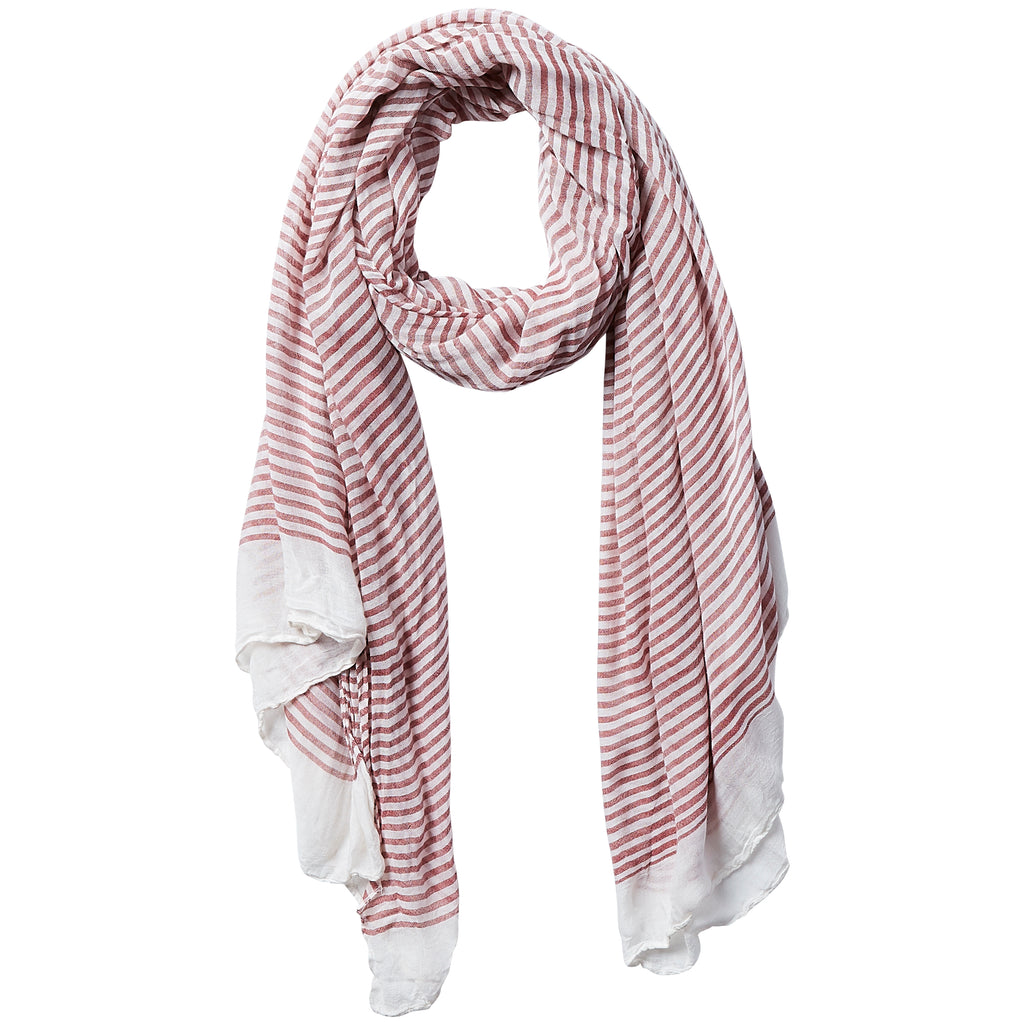 Tiny Stripe Insect Shield Scarf - Red - Tickled Pink Wholesale