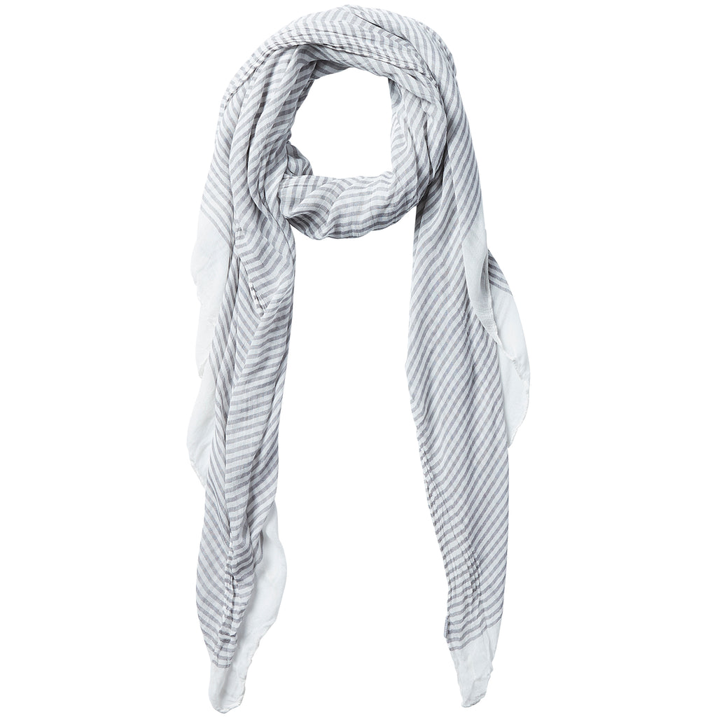 Tiny Stripe Insect Shield Scarf - Gray - Tickled Pink Wholesale