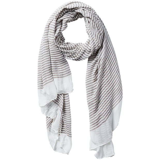 Tiny Stripe Insect Shield Scarf - Brown 1