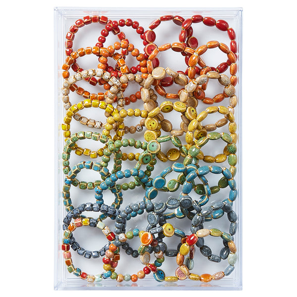 All Shapes & Colors Clay Mini Bracelets - Assorted 24 Pack